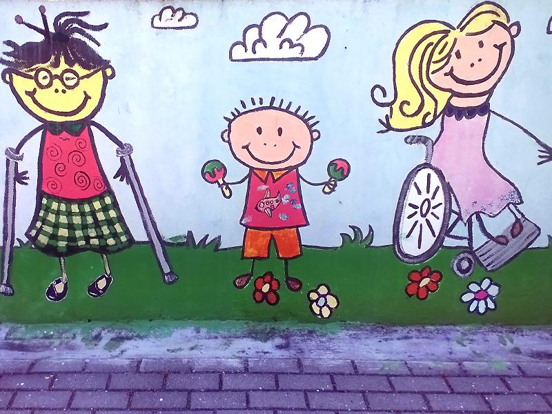 Mural no recreio